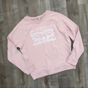 Levi's pale pink logo pullover